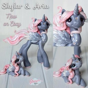 Skylar and Aria Alicorn Mother and Daughter by whisperfillies