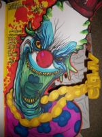crazy cornrow clown by theredmonster419