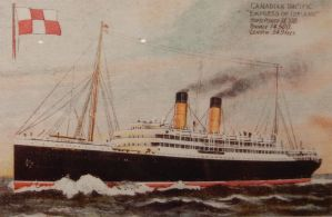 RMS Empress of Ireland Postcard by rlkitterman