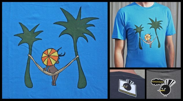 Beach bum - hand painted tee by KilowattKatie