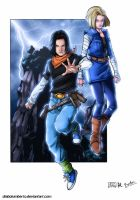 Dragon ball Z    C17-C18 by diabolumberto