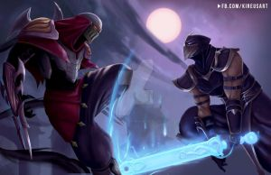 Zed vs Shen by kiremeister