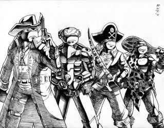 Turtles in Time Inked by Garth2The2ndPower