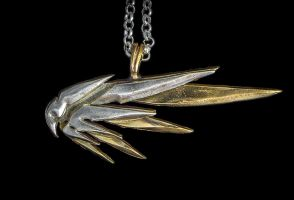 Overwatch Mercy's Wings Necklace by KristoLiiva