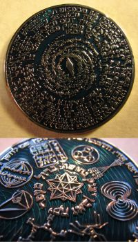 God of Science Coin by ce-e-vel