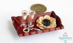 1:12 Champagne, Caviar, and Crackers by PepperTreeArt