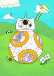 BB-8 in the land of Ooo [Adventure Time Land] by MahiyanaCarudla
