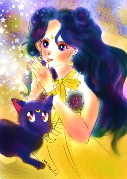 Sailor moon-human Luna-twinkle of star by La-h-i-n-a-y-u-m-e