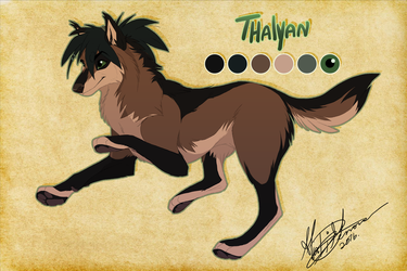 Thalyan - Thorinfrostclaw Commission by Kairi292