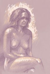 Seated nude by Harnois75
