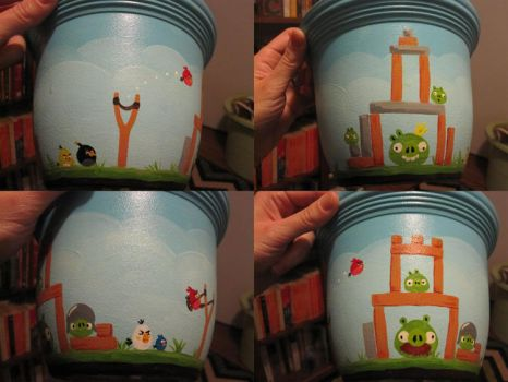 Angry Birds Flower Pot by ShadesOfEarth