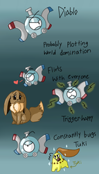 Diablo the Magnemite by Levatheshapeshifter
