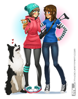Brooke n Molly by MLeth