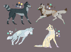 Canine Adoptable Batch 5 -OPEN- by wolfkittyadopts