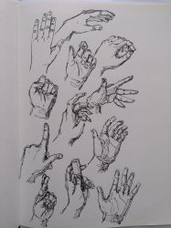 Hand sketches by LadyCannelle