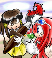 Raikita and Knuckles by SonicRose