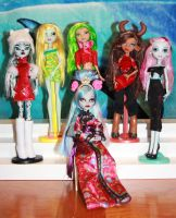 Monster High customs by rainbow1977