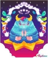 Space Yeti Believer by marywinkler