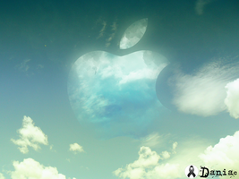 An apple in the sky by daniacdesign
