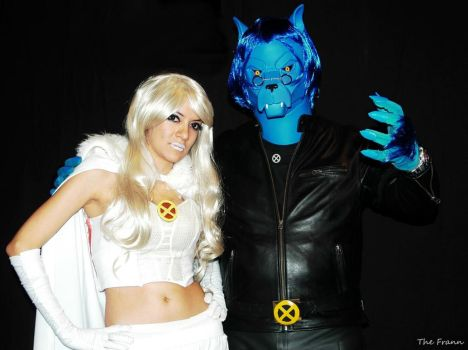 34 Emma Frost and Beast ! by Horakso