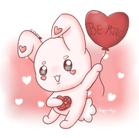 V-Day Bunny by Crystal-Moore