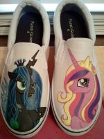 Cadance and Chrysalis  Shoes SOLD by Miss-Melis