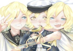 Oliver + Kagamine by longchealex