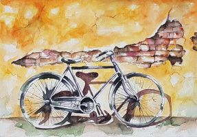 Old bicycle by rougealizarine
