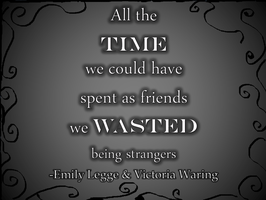 The time spent wasted by beautifulshininghope