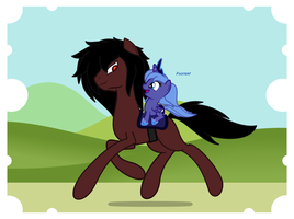 Woona Rides On Alucards Back by ArdonSword