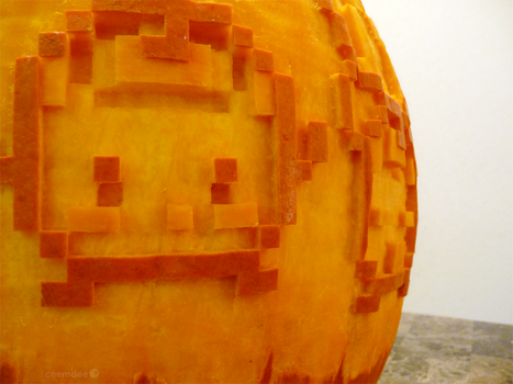 Stardew Valley Pumpkin Detail by ceemdee