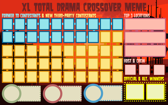 Total Drama Crossover Meme Template (XL) by Sukoshi13
