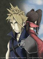 Cloud and Aerith by jmdesantis