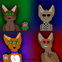 bunch of furries by Official-Fallblossom