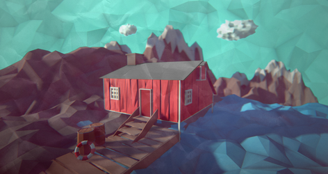 The Little Red House Up North by Littlenorwegians