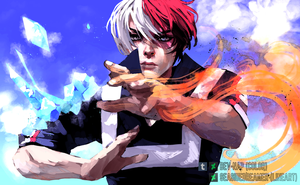 Shoto Todoroki (Art Collab) by Bev-Nap