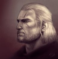 Geralt Sketch by Atarial