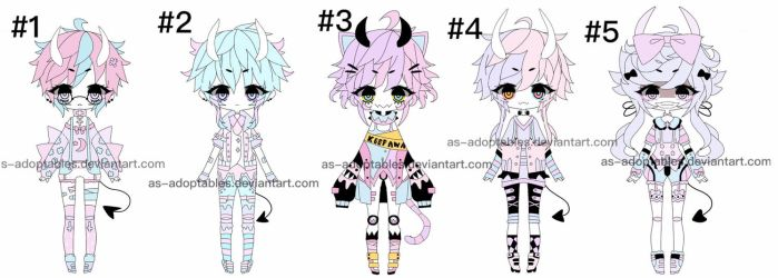 Oni demon adoptables closed by AS-Adoptables