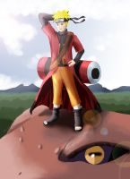 Naruto: On top of the world by SmudgedPixelsArt