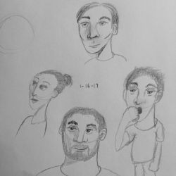 Drawing a Couple People by GraphiteForest