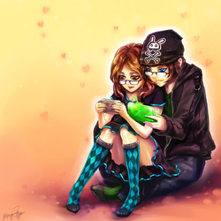 Nerdy Love Commission by yuumei