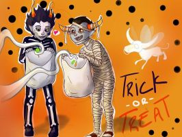 Gamzee  Tavros Trick-or-Treat by LargM