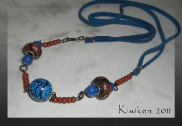 Brown River - Necklace by Kiwiken