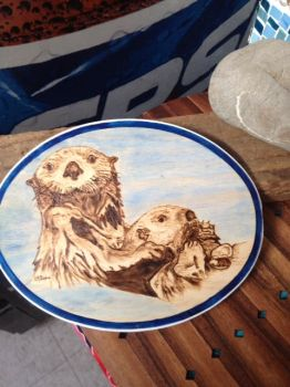 Pyro Sea Otters with acrylic by H20dog
