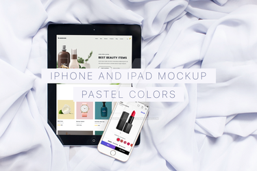 Pastel colors iPhone and iPad Mockup by theanthnonyrich