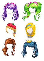 Mixing more hair by Jessimine