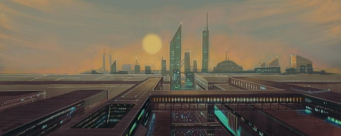Evening city by Activoid