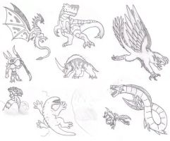 Even More MH Concepts by DinoHunter2