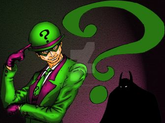 Riddler color treated by UncannyBruceman