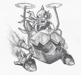 League of Legends Sketch - Corki by GianlucaSorrentino